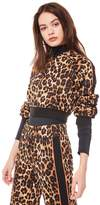 Juicy Couture Jxjc Logo Patch Leopard Tricot Jacket