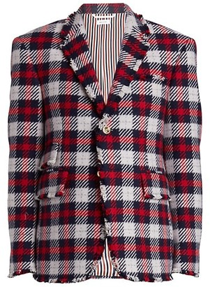 Thom Browne Single Breasted Cashmere Blazer Jacket