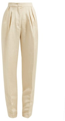 Golden Goose Felicia High-rise Pleated Trousers - Womens - Beige