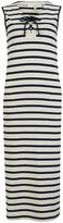 Vanessa Bruno Women's Ellora Stripe Dress Ecru/Marine