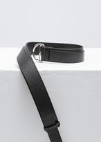 Jil Sander black d-belt