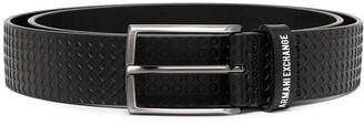 Armani Exchange Geometric Texture Belt