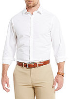 Hart Schaffner Marx Long-Sleeve Spread Collar Horizontal-Stripe Textured Sportshirt