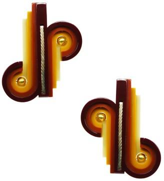 Gissa Bicalho Handmade Acrylic Earring Op Knot / Cinnamon