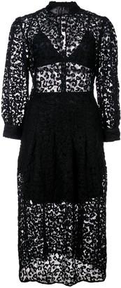 Fleur Du Mal Leopard lace dress