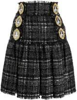Dolce & Gabbana queen buttons tweed skirt