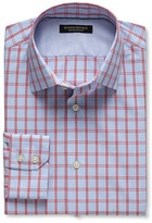 Banana Republic Slim-Fit Non-Iron Windowpane Plaid Shirt