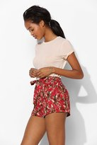Urban Outfitters Band Of Gypsies Wrap-Front Skirted Short