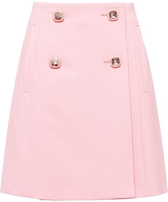 Prada Double-Breasted Skirt