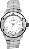 Bulova Men's 65B109 Stainless Steel Swiss Automatic Roman Numeral Watch