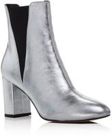 Rebecca Minkoff Serena Metallic Leather Block Heel Booties - 100% Exclusive