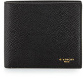 Givenchy Saffiano Leather Bifold Wallet, Black