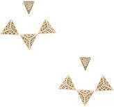Wanderlust + Co Tri Pyramid Ear Cuff