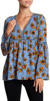 Lucca Couture Laura Bell Sleeve Printed Blouse