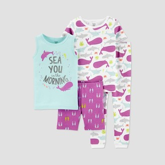 Carter's Baby Girls' 4pc Sea Pajama Set - Just One You® made by Purple