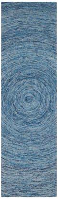 "Safavieh Kamra Ikat Rug, Dark Blue and Multi, 2'3""x8'"