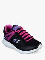 Skechers Children's Ultra Flex Rainy Daze Trainers, Black/Hot Pink