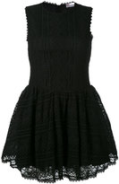 RED Valentino embroidered lace skater dress - women - Cotton/Polyamide/Spandex/Elastane - L