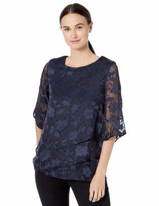 Ronni Nicole Women's Tiered top