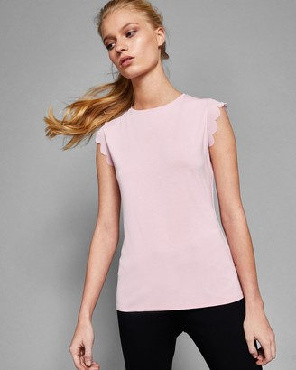 Ted Baker Scallop Detail Fitted T-shirt