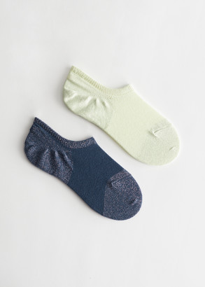 And other stories Low Cut Glitter Sock Set