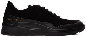 Common Projects Black Suede Cross Trainer Low Sneakers