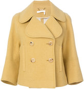 Chloé cropped double breasted jacket - women - Polyamide/Viscose/Virgin Wool - 40