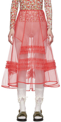 Molly Goddard Pink Alva Skirt