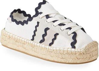 Bernardo Vale Scalloped Mesh Sneakers