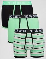 Ecko Unlimited 3 Pack Trunks Green Set