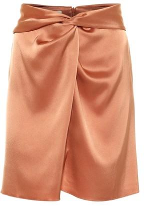 Nanushka Milo satin miniskirt