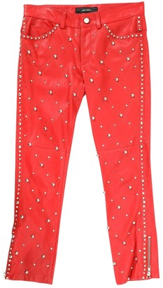 Isabel Marant Red Leather Trousers