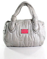 Marc by Marc Jacobs Gray Stitching Zipper Top Shoulder Handbag