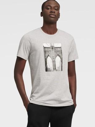 DKNY Unisex Brooklyn Bridge Tee - Grey - Size XS