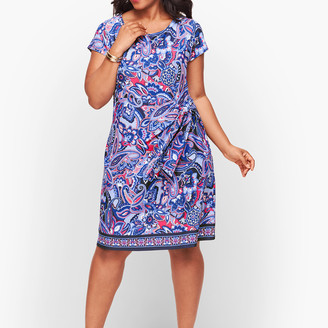 Talbots Faux Wrap Jersey Shift Dress - Paisley