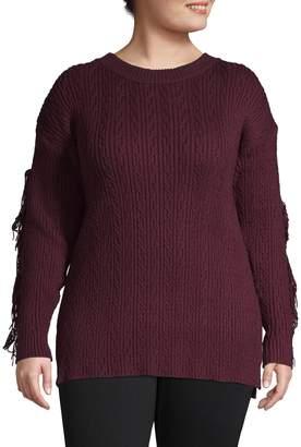 Rachel Roy Plus Tassel-Sleeve Sweater