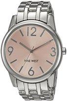 Nine West Women's NW/1765LPSB Silver-Tone Bracelet Watch