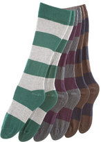 Unisex Flat Knit Striped Knee-High Sock (3-Pack)