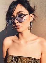MinkPink Retrograde Sunglasses Silver/Blue