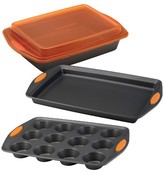 Rachael Ray Rachal 4 Pc Bakeware Set Orange