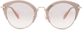 Miu Miu Round Cat Eye Sunglasses