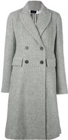 Isabel Marant double breasted coat - women - Viscose/Alpaca/Virgin Wool - 36