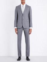 Armani Collezioni Checked slim-fit wool suit