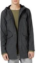 Topman Men's Fleece Lined Nylon Blend Parka