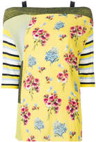 I'M Isola Marras floral patch-work blouse
