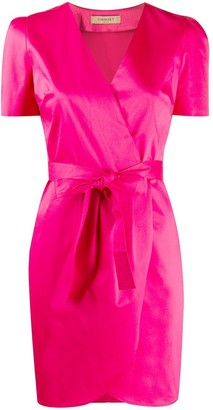 Twin-Set Belted Mini Wrap Dress