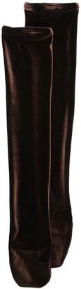Simone Wild Velvet Knee-Length Socks