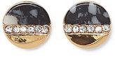 Vince Camuto Dalmatian Jasper & Pav Crystal Stud Earrings