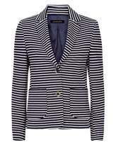 Jaeger Ponte Jersey Striped Blazer