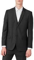 Topman Slim Fit Charcoal Suit Jacket